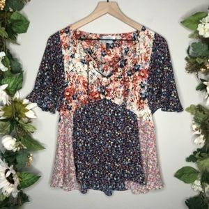!Anthropologie HD in Paris Floral Blouse F19